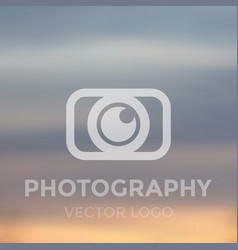 Photography logo concept vector