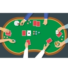 Poker Game Top View vector image