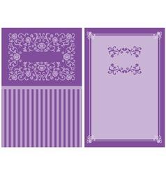 Purple floral invitation vector