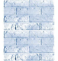 seamless pattern of blue brick wall vector image