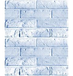Seamless pattern of blue brick wall vector
