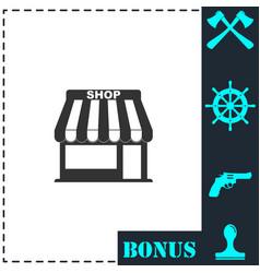 shop icon flat vector image