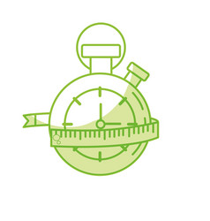 Silhouette chronometer with measuring to practice vector