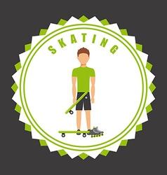 Skating seal vector