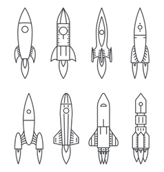 Space Rocket icons Start Up and Launch Symbol New vector