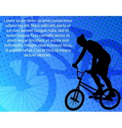 stunt bicyclist vector image