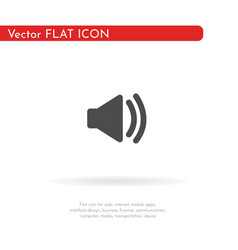 volume icon for web business finance and vector image