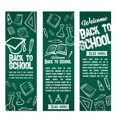 Back to school banners set vector