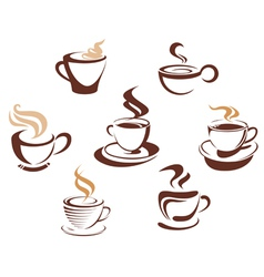 Coffee tes cups vector