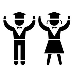 graduation - students - teaching people icon vector image vector image