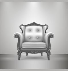 retro chair gray vector image