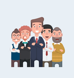 businessman doing different gestures character vector image vector image