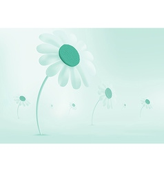 Daisies growing in a meadow Everything is covered vector image vector image