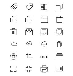 iOS and Android Icons 1 vector image vector image