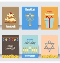 Judaism church traditional symbols icons set vector image