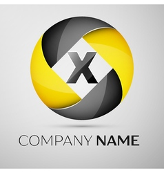 Letter x logo symbol in the colorful circle vector