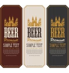 Set of beer labels vector