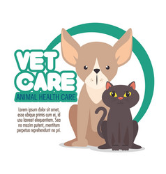 veterinary pet clinic logo vector image vector image