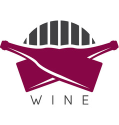 Abstract icon design template of wine bottles vector