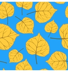Blue Pattern with leaves-01 vector image vector image
