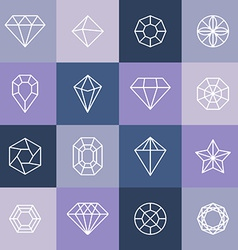 diamonds and gems vector image vector image