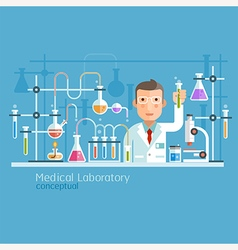Medical Laboratory Conceptual vector image vector image