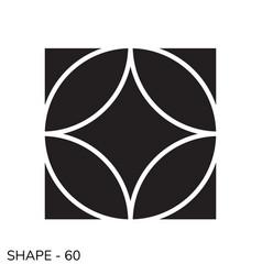 simple geometric shape vector image vector image