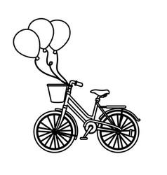 vintage bicycle vehicle vector image vector image
