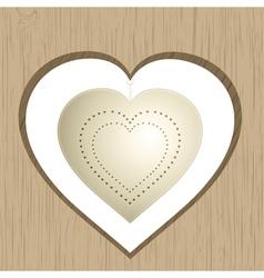 vintage valentine heart vector image vector image