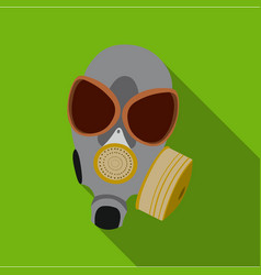 gas masks icon flate single weapon icon from the vector image vector image