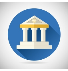 Law Court Museum Bank House Symbol Justice Finance vector image vector image