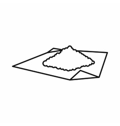 Marijuana on rolling paper icon outline style vector