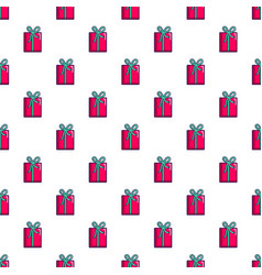 pink gift box pattern vector image vector image