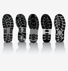 Prints of shoes vector image