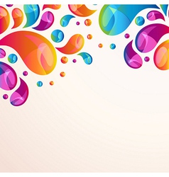 Splash background cover template vector image vector image