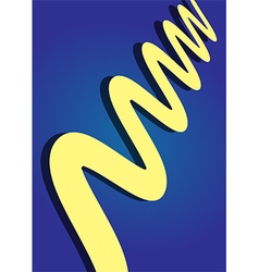yellow on blue vector image