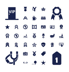 37 badge icons vector