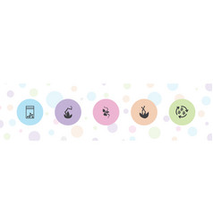 5 seed icons vector