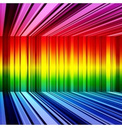 Abstract rainbow retro stripes colorful background vector image