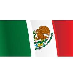 Background with waving Mexico Flag vector