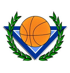 Basket emblem vector image