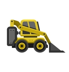 Bobcat Machine Icon Flat Style Design vector