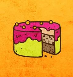 Cake Cartoon vector image