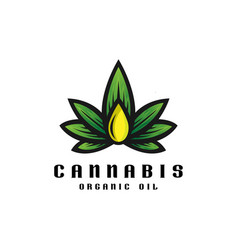 cannabis oil logo template vector image