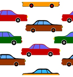 Car icons on white vector