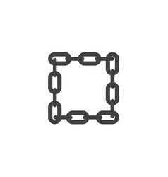 chain graphic design template isolated vector image