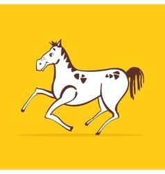 Cheerful horse vector