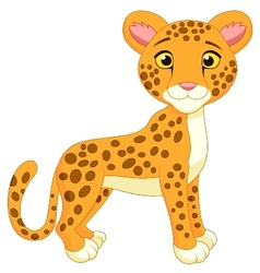 Cite cheetah cartoon vector image