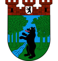 Coat of arms of treptow in berlin germany vector