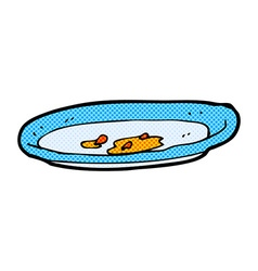 Comic cartoon empty plate vector